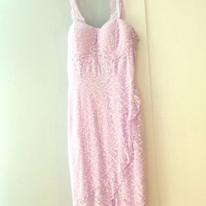 Purple lace corset dress